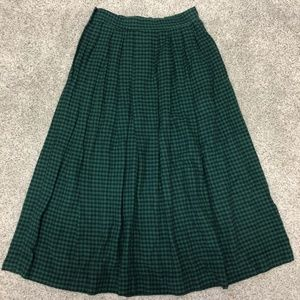 Vintage ORVIS Checked Flannel Midi Skirt